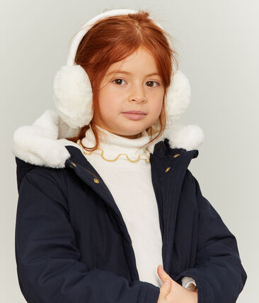 Orejeras infantiles para niña blanco Marshmallow