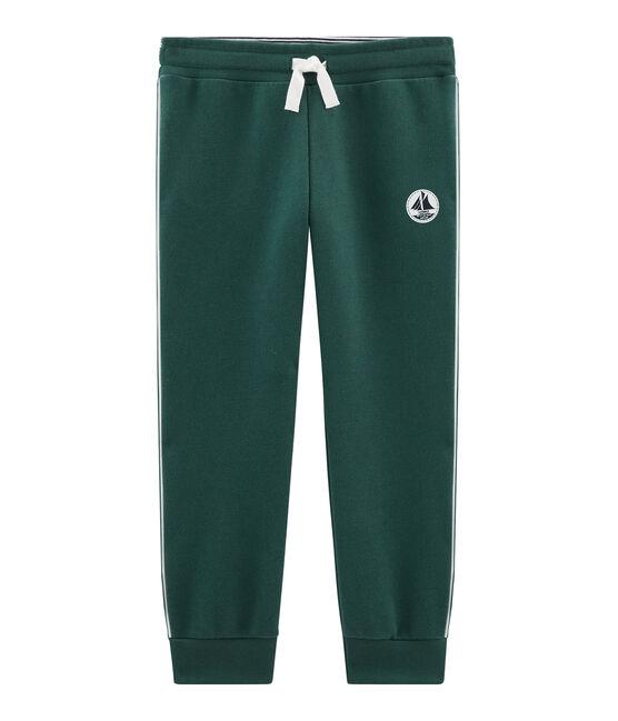 Pantalón de muletón para niño verde Sousbois