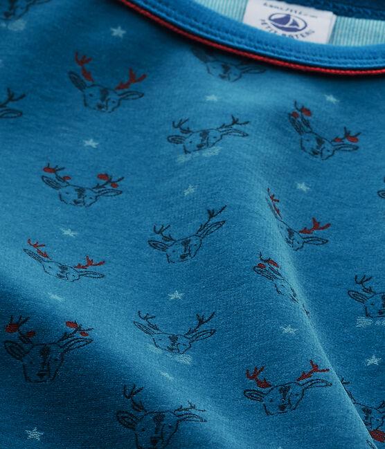 Pijama para niño en terciopelo gris Capecod / azul Contes