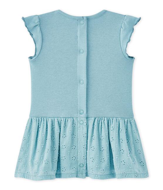 Vestido bebé niña con volantes azul Mimi