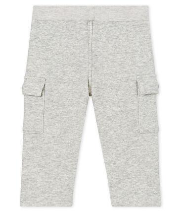 Pantalón de terciopelo para bebé niño gris Beluga