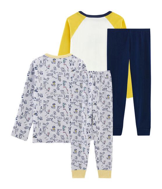 Dúo de pijamas de punto para niño lote .