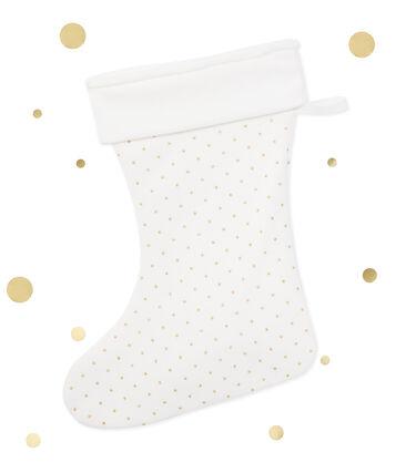 Calcetín de Navidad blanco Lait / amarillo Or
