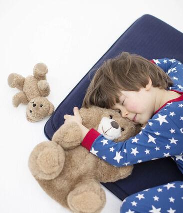 Pijama de punto para niño azul Major / blanco Ecume