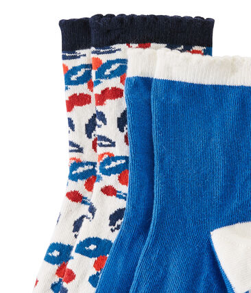 Lote de 2 pares de calcetines para niña