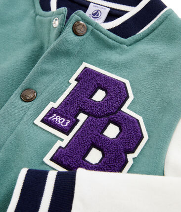 Chaqueta teddy de niño azul Brut / blanco Marshmallow