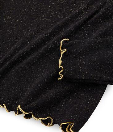 Camiseta interior brillante para mujer negro Noir / amarillo Or