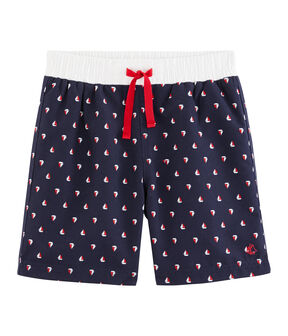 Shorts de playa para niño azul Submarine / blanco Multico