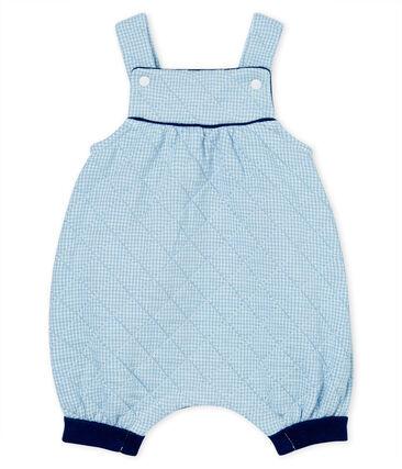 Peto corto para bebé de túbico acolchado azul Acier / blanco Marshmallow