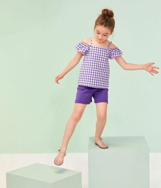 Blusa de niña violeta Real / blanco Marshmallow