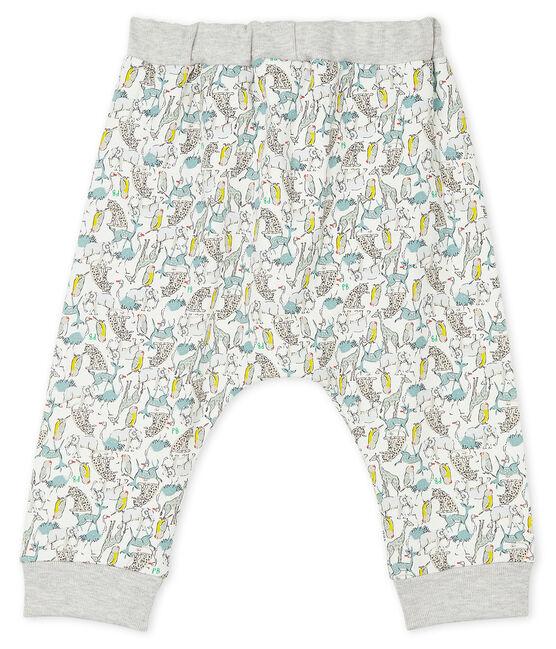 Pantalón de muletón ligero para bebé niño blanco Marshmallow / blanco Multico