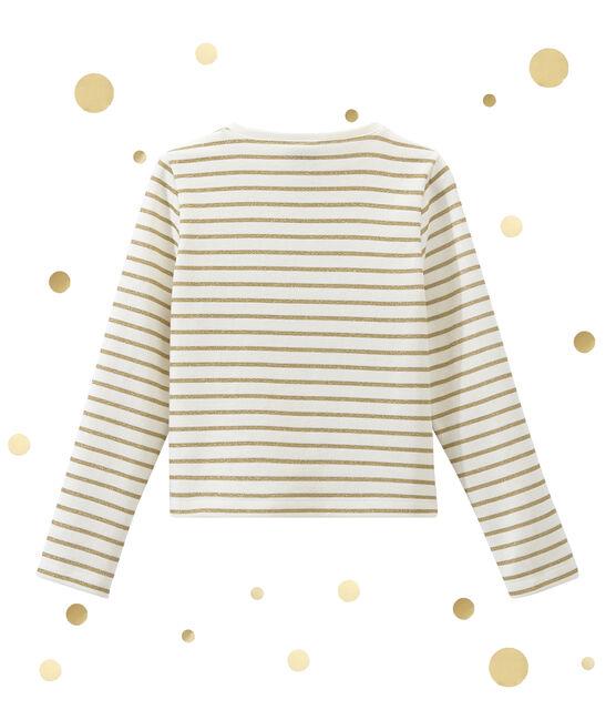 Cárdigan para niña blanco Marshmallow / amarillo Dore
