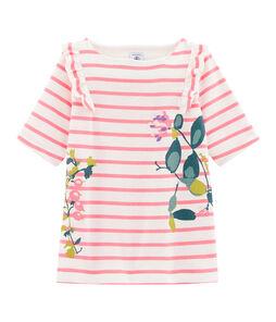 Camiseta de niña blanco Marshmallow / rosa Cupcake