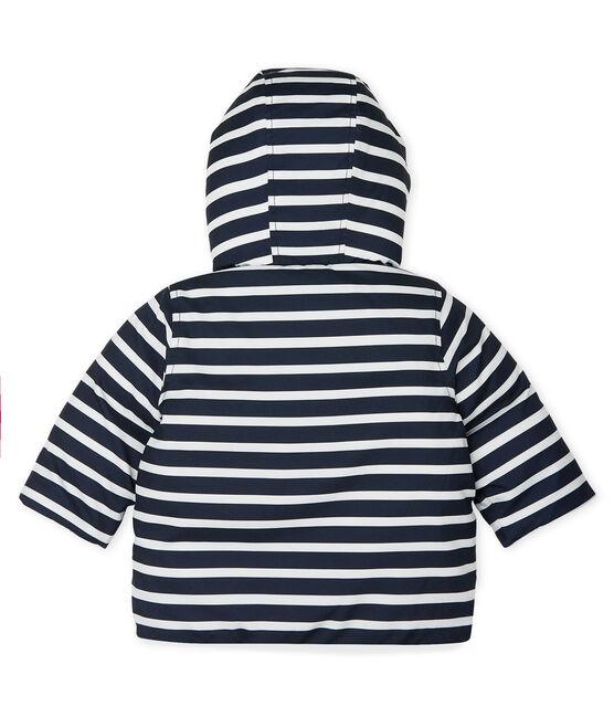 Plumón de bebé niño de rayas azul Smoking / blanco Marshmallow