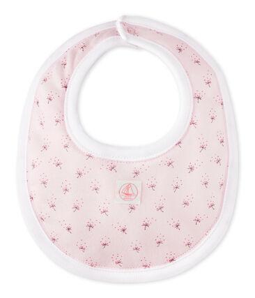 Babero bebé mixto estampado rosa Vienne / blanco Multico