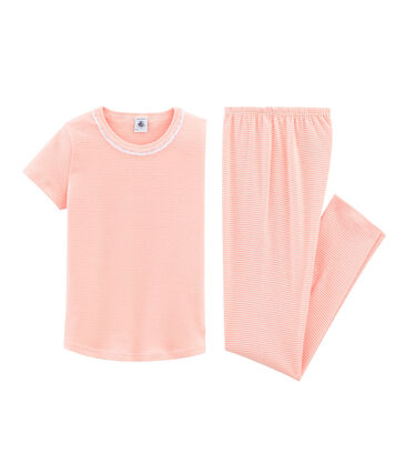 Pijama manga corta de punto para niña
