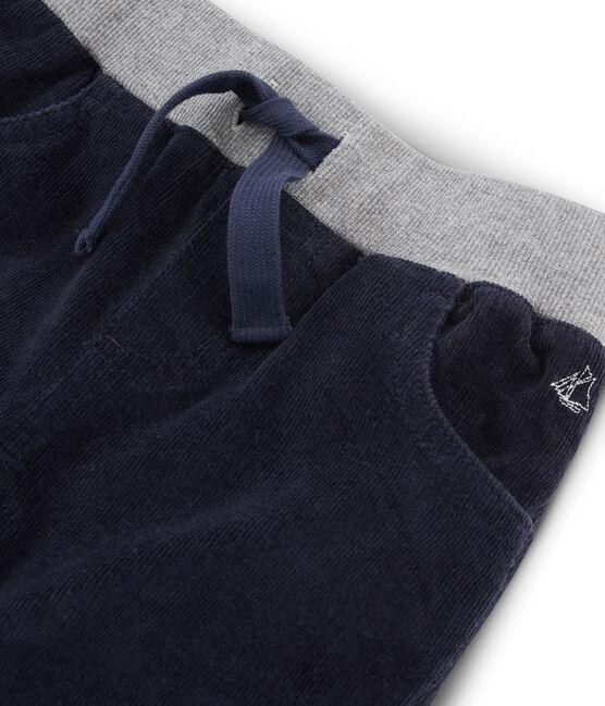 Pantalón de terciopelo para niño azul Smoking