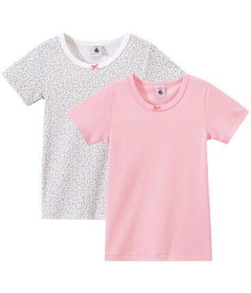 Lote de 2 camisetas de manga corta para niña