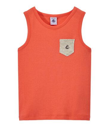 Camiseta sin mangas con bolsillo en el pecho para niño