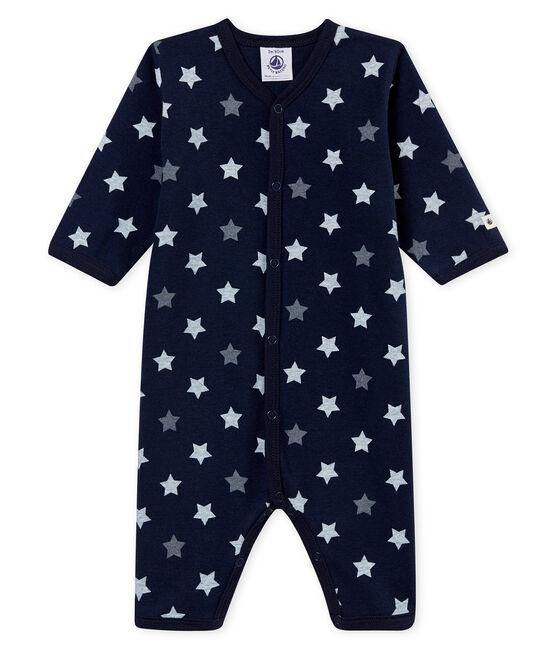 Pelele sin pies para bebé niño azul Smoking / blanco Multico