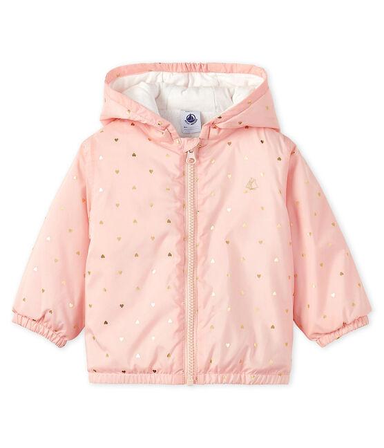 Chaqueta con forro polar para bebé unisex rosa Minois / amarillo Or