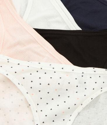 Lote de 5 braguitas de algodón ligero para mujer