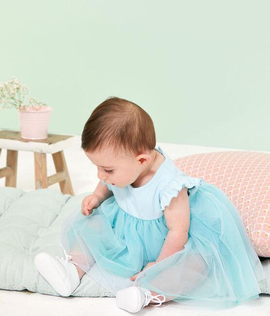 Vestido-bodi de manga corta para bebé niña azul Glacis