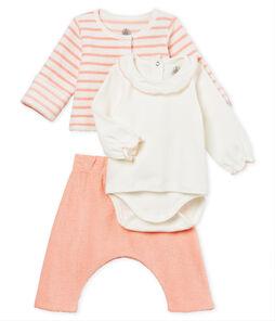 Conjunto 3 piezas para bebé niña