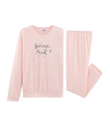 Pijama de rizo picado para niña muy cálido rosa Minois