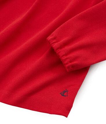 Camiseta manga larga infantil para niña rojo Terkuit