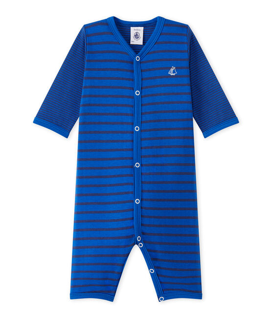 Pijama sin pies para bebé niño azul Perse / azul Chaloupe