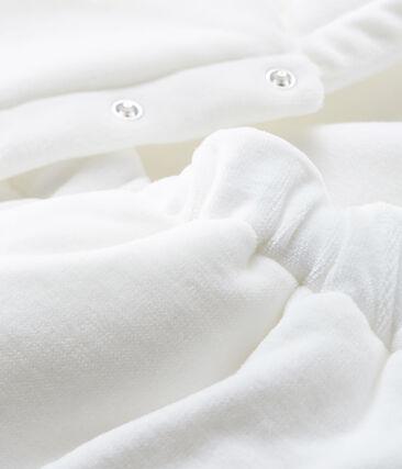Saco de dormir 3 en 1 para bebé de terciopelo blanco Marshmallow