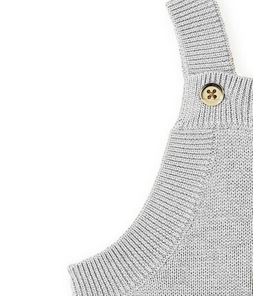 Peto largo para bebé niño de punto de lana, nylon y alpaca. gris Montelimar Chine