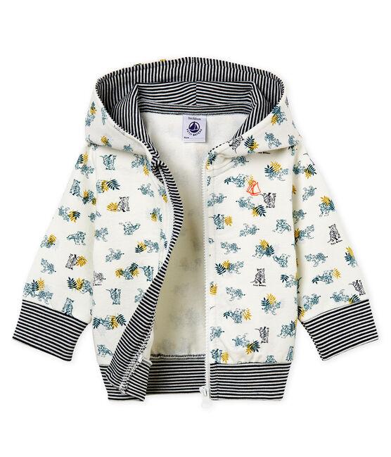 Sudadera estampada con capucha y cremallera para bebé niño blanco Marshmallow / blanco Multico