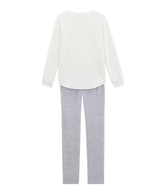 Pijama para niña blanco Marshmallow / gris Poussiere