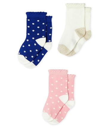 Lote de 3 pares de calcetines para bebé niña lote .