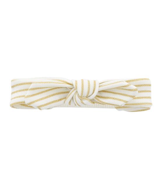 Turbante infantil para niña blanco Marshmallow / amarillo Or