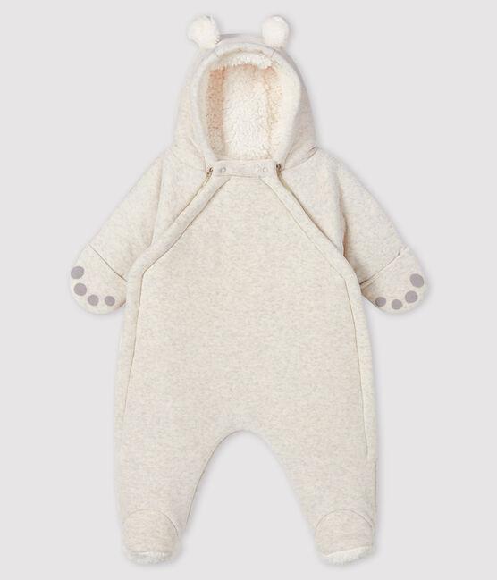 Saco de dormir de oso de terciopelo para bebé gris Montelimar Chine