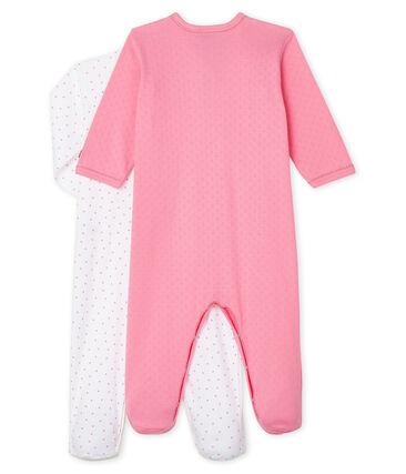 Par de pijamas de punto de bebé niña lote .