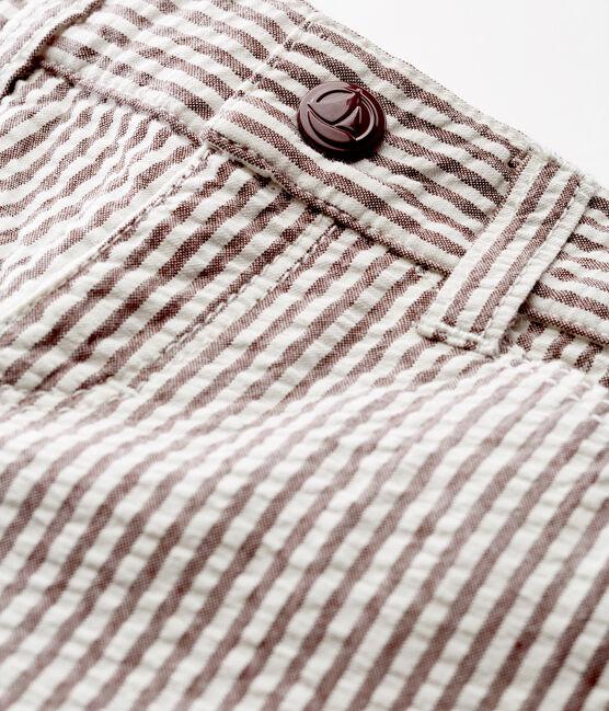 Pantalón de rayas para bebé niño rojo Vino / blanco Marshmallow