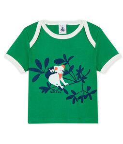 Camiseta de manga corta para bebé niño verde Prado