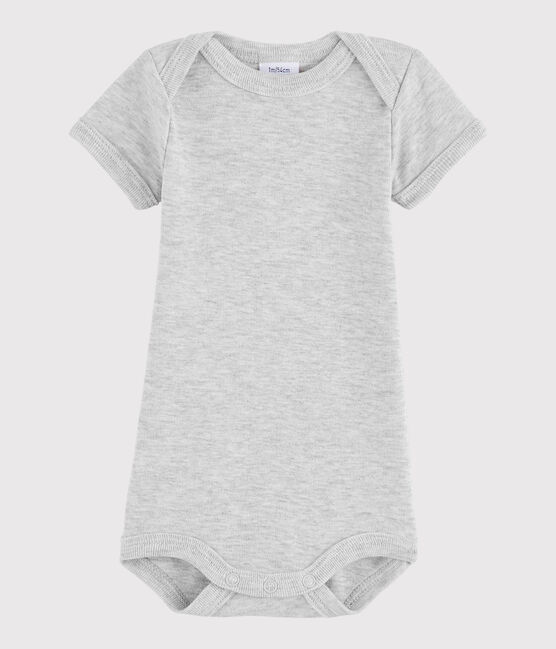 Bodi de manga corta de bebé niño gris Beluga Chine
