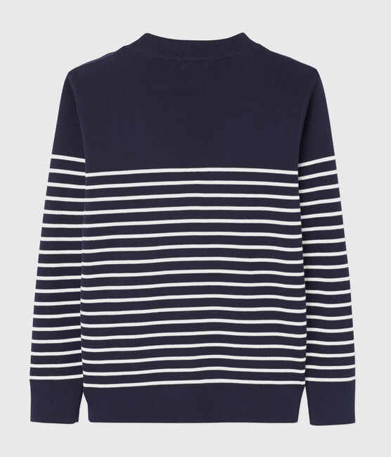 Jersey marinero de hombre azul Smoking / blanco Marshmallow