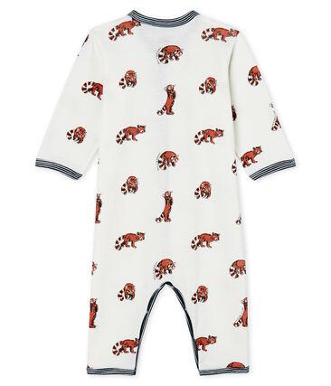 Pijama sin pies de ecológico con forro para bebé blanco Marshmallow / blanco Multico Cn
