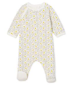 Pijama extra cálido de toalla de rizo afelpado para bebé niña blanco Marshmallow / blanco Multico