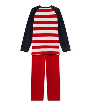 Pijama de anclas para niño azul Smoking / rojo Froufrou
