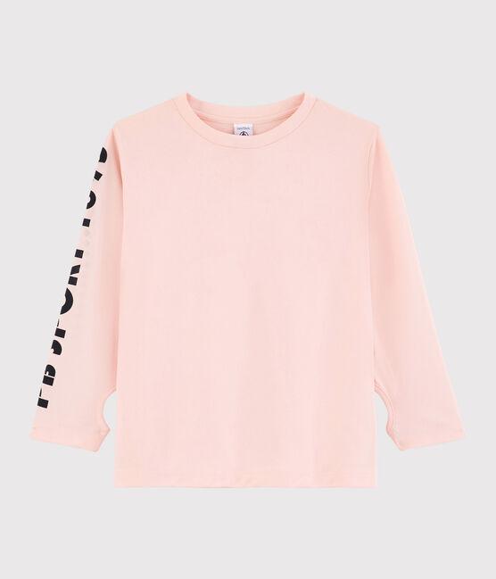 Camiseta deportiva de niño rosa Minois