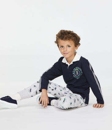 Pantalón de niño gris Poussiere / blanco Multico