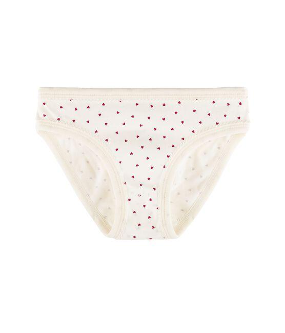 Braguita para niña blanco Marshmallow / rojo Clafouti