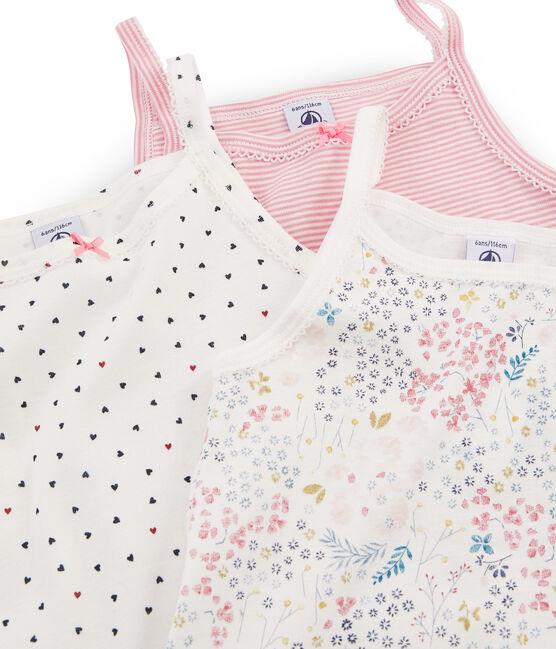 Trio de camisas con tirantes para niña lote .